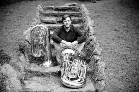 Allen Carpenter with Tubas