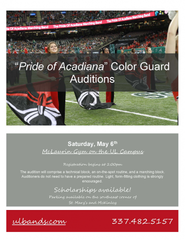 Color Guard Auditions Flyer