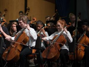 High School Cellists Play With the UL Symphony Orchestra