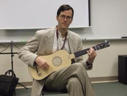 Jeffrey George with baroque guitar